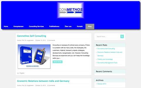 Screenshot of Blog conmethos.com - CONMETHOS - captured Oct. 1, 2014