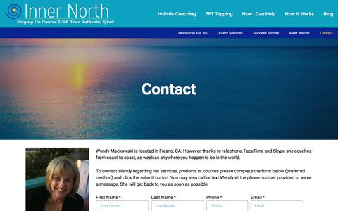 Screenshot of Contact Page innernorth.com - Contact - Inner North - captured Sept. 19, 2018