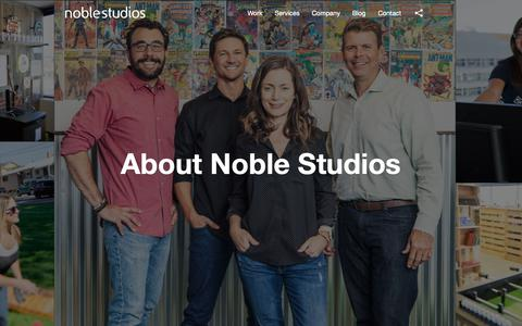 Screenshot of About Page noblestudios.com - About Noble Studios | Creative Digital Performance Marketing Agency - captured Jan. 16, 2019