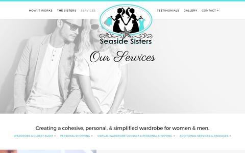 Screenshot of Services Page seasidesisters.com - Personal Stylists and Image Consultants in Stuart, Florida | Seaside Sisters - captured June 16, 2017