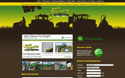 Screenshot of Home Page deercountry.net - Deer Country Farm & Lawn, Inc. - Home - captured Oct. 5, 2014