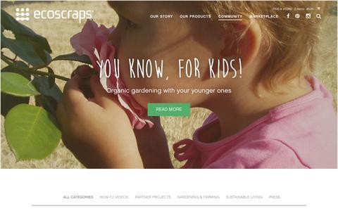 Screenshot of Blog ecoscraps.com - EcoScraps - Blog - captured Nov. 11, 2015