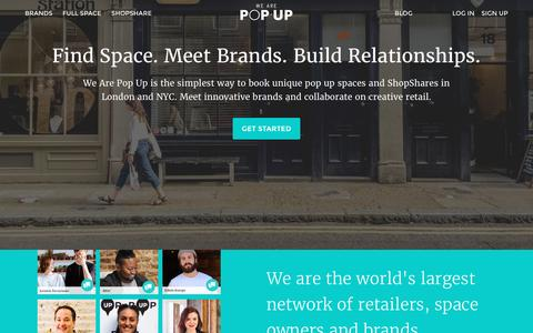 Find Space. Meet Brands. Build Relationships. | We Are Pop Up
