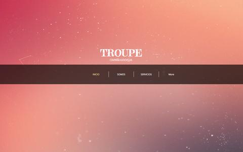 Screenshot of Home Page troupe.cl - troupe - captured Aug. 6, 2017