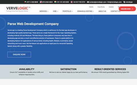 Screenshot of vervelogic.com - Best Parse Web Development Company in India - VerveLogic - captured Jan. 1, 2018