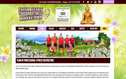 Screenshot of Team Page thailandfitnessbootcamp.com - Team Of Professional Fitness Instructors | Thailand Fitness Bootcamp - captured Oct. 14, 2017
