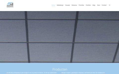 Screenshot of Home Page mooijer-graphic.nl - Mooijer Graphic - Vaassen - Webdesign, Huisstijl, Reclame en Promotie - captured Oct. 1, 2014
