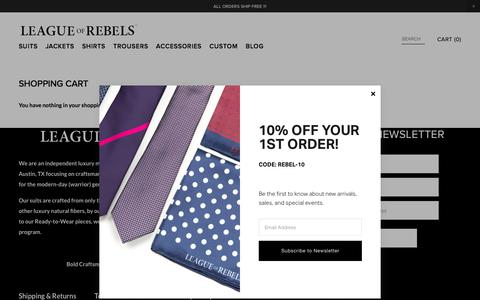 League of Rebels Menswear