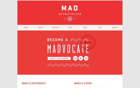 Screenshot of Signup Page themadmarketplace.com - MADvocate - captured Oct. 3, 2014