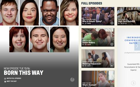 Screenshot of Home Page aetv.com - A&E - Shows, Schedules, Full Episodes & Videos - captured Dec. 27, 2015