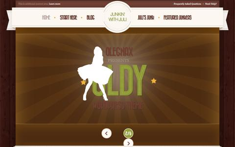Screenshot of Home Page julibecker.com - HOME - captured Sept. 23, 2014