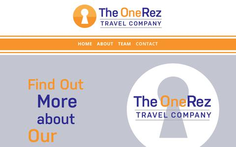 Screenshot of Contact Page onerez.com - Contact Us | The OneRez Travel Company - captured Nov. 13, 2017