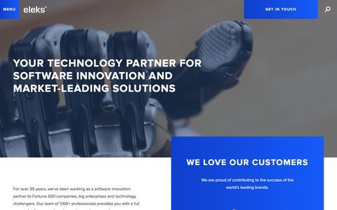 Screenshot of Home Page eleks.com - Enterprise Software Development, Technology Consulting | ELEKS - captured Oct. 9, 2017