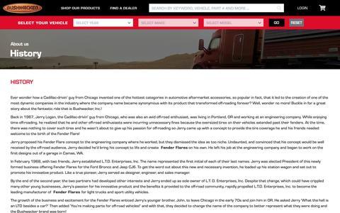 Screenshot of About Page bushwacker.com - About us - captured Nov. 13, 2018