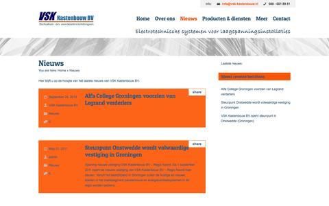 Screenshot of Blog vsk-kastenbouw.nl - Nieuws | VSK-Kastenbouw BV - captured Oct. 7, 2014
