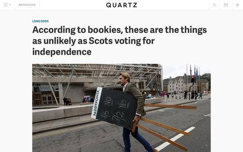 Screenshot of Home Page qz.com - Quartz - captured Sept. 19, 2014