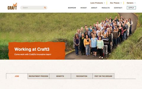 Screenshot of Jobs Page craft3.org - Join our team | Craft3 - captured May 12, 2017