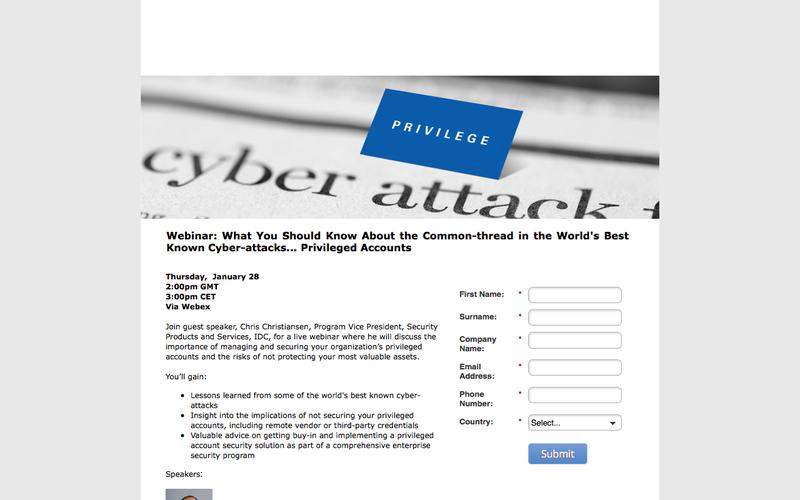 Webinar: What You Should Know About the Common-thread in the World's Best Known Cyber-attacks