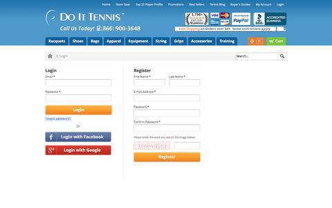 Screenshot of Login Page doittennis.com - DoItTennis - captured Jan. 7, 2016
