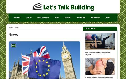 Screenshot of Press Page letstalkbuilding.com - News Archives | Let's Talk Building - captured July 18, 2018