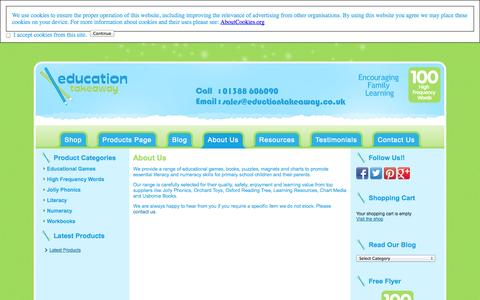 Screenshot of About Page educationtakeaway.co.uk - About Us | educationtakeaway.co.uk - captured Sept. 29, 2014