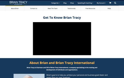 Who is Brian Tracy | About Me