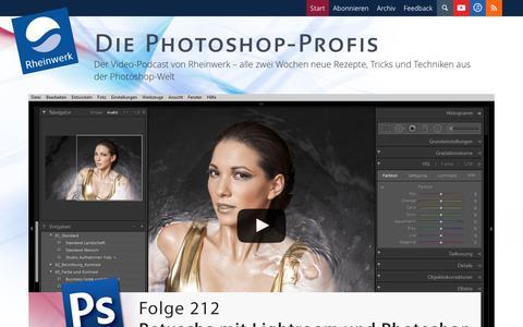 Screenshot of Home Page photoshop-profis.de - Photoshop Tutorials von Rheinwerk - Die Photoshop-Profis - captured Jan. 15, 2016