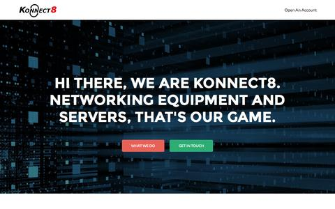 Screenshot of Home Page konnect8.co.uk - Konnect8 Ltd | Independent, Value Added Networking And Server Suppliers - captured June 17, 2015