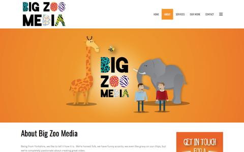 Screenshot of About Page bigzoo.co.uk - About Big Zoo Media   Corporate & Animated Explainer Video Company - captured Oct. 10, 2017