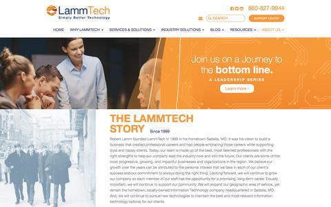 Screenshot of About Page lammtech.com - About Us   LammTech - captured July 11, 2016