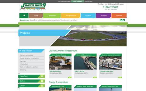 Screenshot of Case Studies Page jones-bros.com - Projects - Jones Bros- Jones Bros - captured Oct. 6, 2014