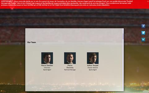 Screenshot of Home Page Services Page Team Page kemari.fr - KEMARI   Football Players' Agents - captured Sept. 30, 2014