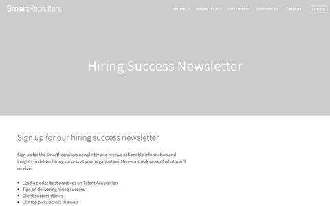 Newsletter | SmartRecruiters