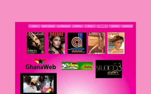 Screenshot of Press Page tammiegarrfragrances.com - Tammie Garr Luxury Fragrances | Media - captured Sept. 26, 2014
