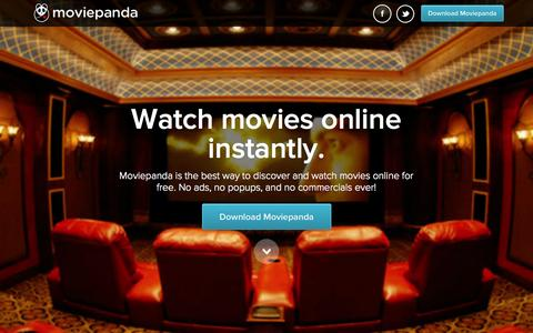 Screenshot of Home Page moviepanda.tv - MoviePanda - Watch movies online instantly. - captured Dec. 13, 2014