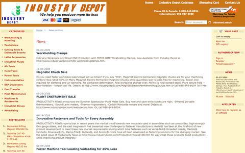 Screenshot of Press Page industrydepot.com - News archive :: INDUSTRY DEPOT - captured June 7, 2017