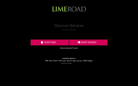 Screenshot of Home Page limeroad.com - Online Shopping Site - Shop Men & Women Fashion Online in India - captured July 19, 2018