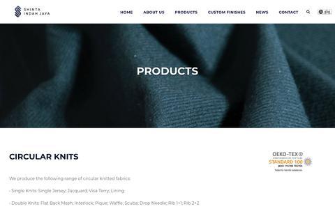Screenshot of Products Page shinta.co.id - Products - Shinta Indah Jaya - captured Sept. 26, 2018