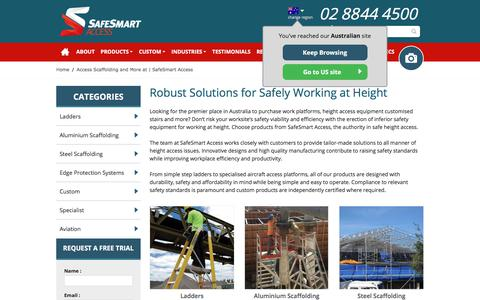 Screenshot of Products Page safesmartaccess.com.au - Access Scaffolding and More at | SafeSmart Access - captured Feb. 19, 2018