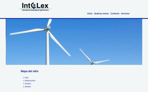 Screenshot of Site Map Page intcolex.com - Intcolex-Global Solutions - captured Feb. 11, 2016