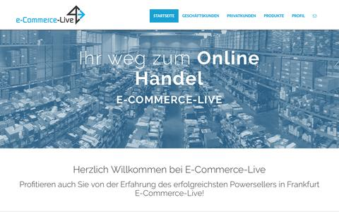 Screenshot of Home Page e-commerce-live.com - E-Commerce-Live Online Handel Frankfurt | Ebay Design | eBay Powerseller #1 | eBay Verkaufsdesign | eBay Verkausabwicklung - captured June 9, 2016