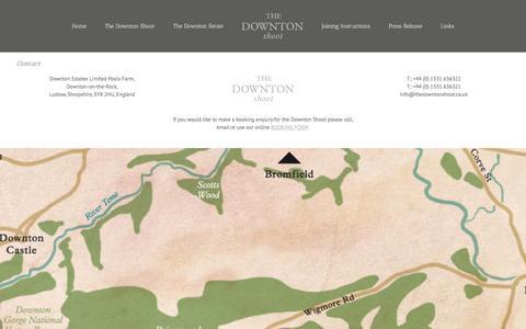 Screenshot of Contact Page downtonshoot.com - The Downton Shoot Contact - captured Feb. 2, 2017