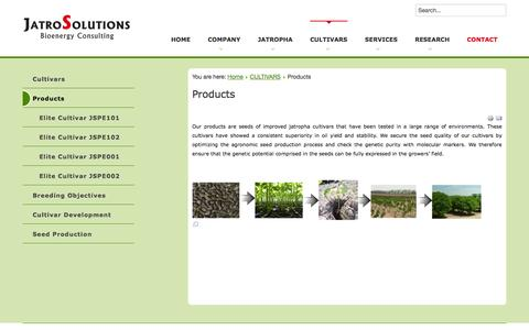Screenshot of Products Page jatrosolutions.com - Products - captured Oct. 6, 2014