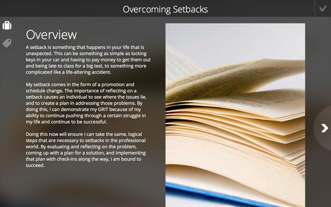 Screenshot of Case Studies Page foliotek.com - Overcoming Setbacks - Foliotek Projects - captured Jan. 8, 2020