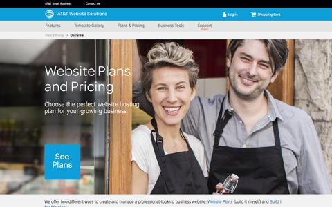 Screenshot of Pricing Page att.com - Website Design and Hosting Plans & Pricing - AT&T Website Solutions - captured May 27, 2017