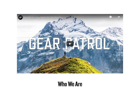 Screenshot of About Page gearpatrol.com - Who We Are - Gear Patrol - captured Nov. 19, 2019