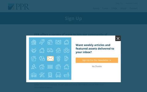 Screenshot of Signup Page pprnoteco.com - Sign Up - captured Sept. 24, 2018