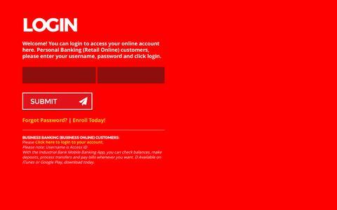 Screenshot of Login Page industrial-bank.com - Untitled Document - captured June 7, 2017