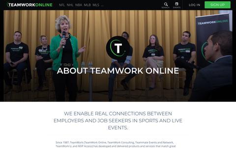 Screenshot of About Page teamworkonline.com - TeamWork Online - About Us - captured Sept. 21, 2018