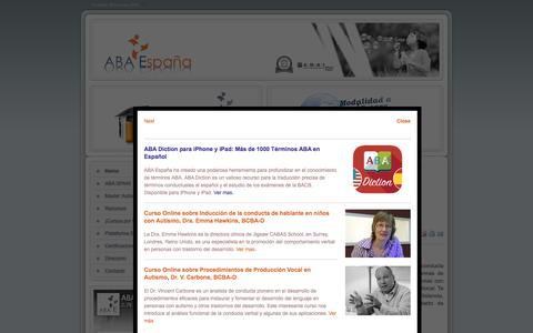 Screenshot of Home Page aba-elearning.com - ABA ESPAÑA - ABA ESPAÑA - captured Feb. 4, 2016